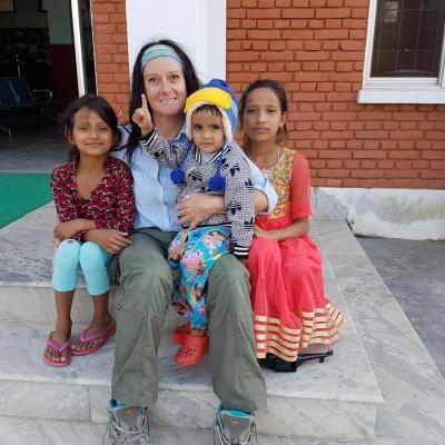 Sharon M in Nepal